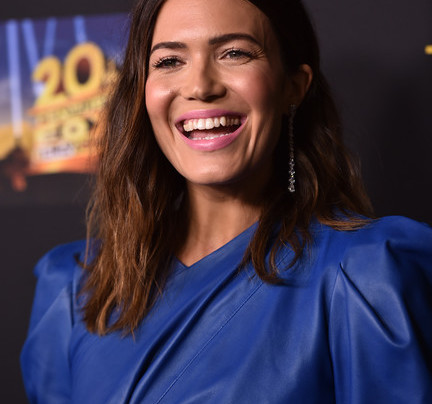 MANDY MOORE IN BLUE LEATHER