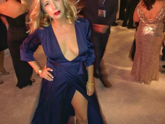Emmys navy dress