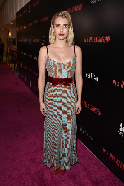 Emma Roberts In A Sequin Gown Red Carpet Roxy