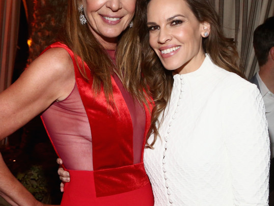 Allison Janney and Hilary Swank