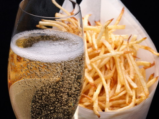 FRENCH FRIES + CHAMPAGNE = LOVE FOREVER