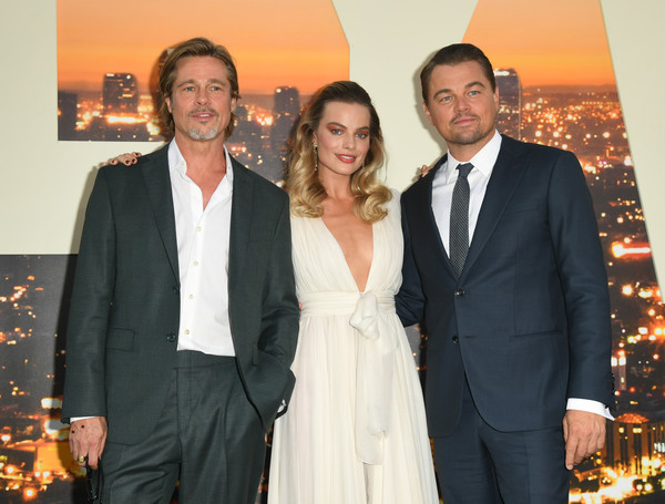 Brad Pitt, Margot Robbie, Leonardo DiCaprioo at the Once Upon a Time in Hollywood premiere