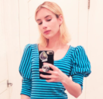 EMMA ROBERTS: STYLISH WHILE STAYING HOME